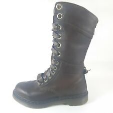 Dr Martens Triumph 1914 Tall Eyelet Lace-Up Boots Brown Floral US 8 EUR 39 UK 6