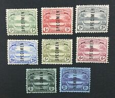 MOMEN: SOLOMON ISLANDS SG #8s/15s 1908-11 SPECIMEN MINT OG H/NG LOT #191796-658