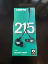 Shure Se215 K Uni Sound Isolating Earphones With 3 Button Remote/Mic Black
