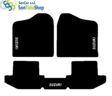 TAPIS SUZUKI SAMURAI sur mesure, broderie : Suzuki blanc + 4 Bloc Compatible