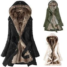 Fur Lining Coat Women Winter Warm Thick Long Jacket Hooded Parka Overcoat 2018