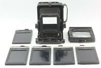 [EXC+5] TOYO FIELD 45A 4x5 Large Format Camera 5 Cut Film Holders From JAPAN 476