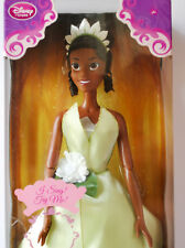 """Disney Store Singing Doll Tiana The Princess and the Frog 2011 first edition 17"""""""