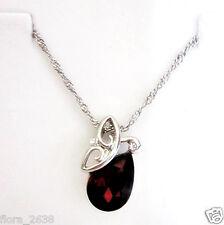 Super collier pendentif PLAQUÉ OR GRIS cristal marron libellule bijou joaillerie