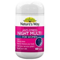Nature's Way Rest & Restore Anti-Stress Night Multi for Women 60 Tablets Natures