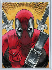 DeadPool Hand Drawn ACEO Sketch By Mark Spears ORIGINAL ART