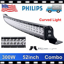 """Curved 52inch 300W LED Work Light Bar Combo Truck Offroad SUV Boat Jeep SLIM 50"""""""