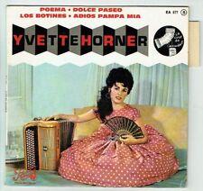Yvette HORNER Vinyle 45T EP POEMA -DOLCE PASEO -LOS BOTINES -PATHE 577 Languette