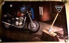 "VERY RARE VINTAGE TRIUMPH THUNDERBIRD  MOTORCYCLE POSTER 39""X24"""