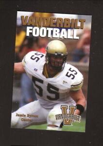 Vanderbilt Commodores--2001 Football Pocket Schedule--Logan's Roadhouse