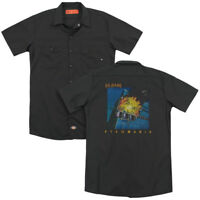 Def Leppard Rock Band PYROMANIA Licensed Adult Dickies Work Shirt All Sizes