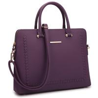 Women Handbag Sitching Leather Work Satchel Tote Shoulder Briefcase Laptop Bag
