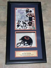 Walter Payton SIGNED 8x10 in 14x26 Shadowbox Display Payton Hologram #613/1000