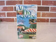 1995 BILL AND GLORIA GAITHER--ALL DAY SINGIN' VIDEO--VHS-NEW-FACTORY SEALED