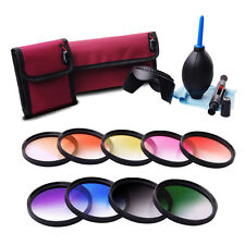 58mm 9pcs Graduated Color Filter Set For Canon Rebel T5i T4i T3i T2i T3 T5 LF498