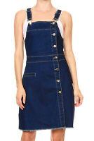 Anna-Kaci Adjustable Strap Pencil Bodycon Midi Suspender Denim Skirt