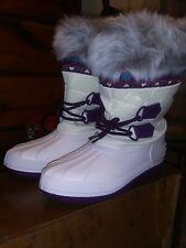 Weather Spirits Ladies NEW White/Purple Faux Fur Trim Size 7