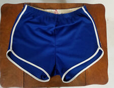 Minty Vintage 70s 80s Shorty Gym Cycling Running Shorts Blue White Stripe Surf