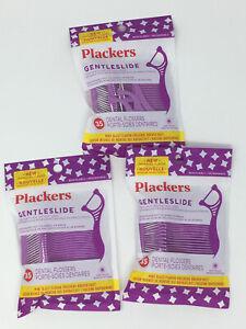 Plackers 3 Pack Gentleslide Dental Flossers - 105 Count