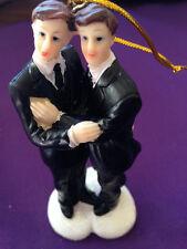 December Diamonds Same Sex Gay WEDDING CAKE TOPPER 2 GROOMS #76-76006