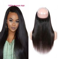 7A 360 Lace Frontal Free Part Closure Brazilian Straight Human Hair  Extensions