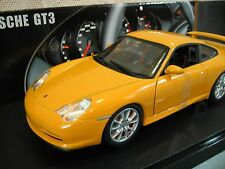 Hot Wheels Porsche GT3 Coupe Yellow Car Die-Cast 1:18 Scale New In Box B8943