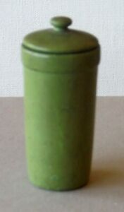Vintage Dollhouse Miniature Wood Trash Can Bin? Container with Lid P994