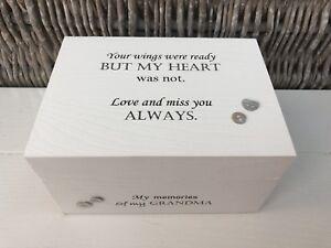 Personalised Memory Box Loved One ~ GRANDMOTHER NANA NAN~ Bereavement Loss