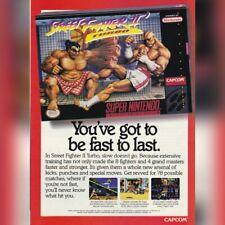 Super Nintendo SNES Capcom STREET FIGHTER 2 TURBO video game magazine print ad