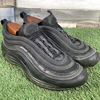 UK8 Nike Air Max 97 Triple Black Trainers - 1 90 95 - EU42.5 - US9 - SEE PHOTOS