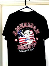 """Betty Boop. (2004). American Beauty. T-Shirt. No size/label 20"""" wide Patriotic"""