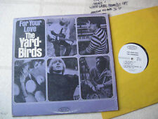 "THE YARDBIRDS 1965 ""For Your Love"" NM ORGNL US WHITE LABEL PROMOTIONAL LP"