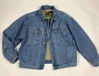 Trash giubbotto sherpa giacca jeans XL uomo vintage pile imbottito usato T6187