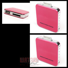 2X 2200MAH EXTERNAL PINK BATTERY BACKUP CHARGER USB IPHONE 4S 4 3GS IPOD TOUCH