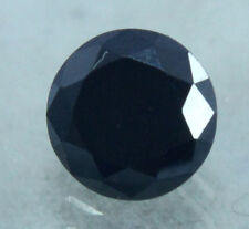 Gem Ggl Certified Ring Size Offer 1.05 Ct Nice Round Cut Black Moissanite
