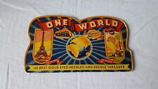 Vintage One World Best Gold Eyed Needles Booklet Made in Germany