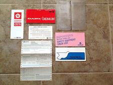1971 Dodge Dart Factory Original Owners Manual Set Complete Excellent Condition