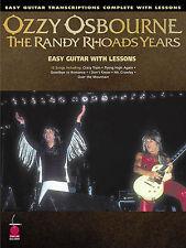 OZZY OSBOURNE - RANDY RHOADS YEARS EASY GUITAR TAB BOOK