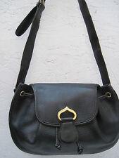 """AUTHENTIQUE sac besace """"LINEA 86 PELLETERIE""""  cuir grainé TBEG vintage bag"""
