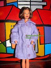 manteau chic barbie grand mère happy family lilas fleur  sexy label qualité @