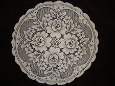 """Ivory Lace Floral design Doily 17"""" round set of 2"""