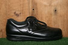 SAS 'Free Time' Black Leather Oxfords Comfort Walking Shoes Women's Sz. 7 S