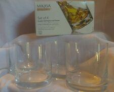 Nip set of 4 Mikasa double old fashion glasses 13.5 oz Laura