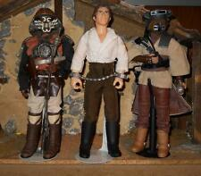 Kitbashed Custom 1/6 Star Wars Jabba's Palace LOT Han + Leia - Lando Disquised