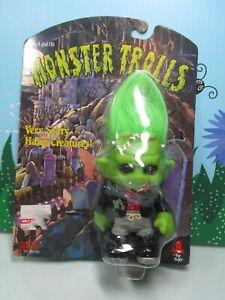 "TROLLENSTEIN / FRANKENSTEIN MONSTER - 1993 4"" Galoob Troll Doll - NEW ON CARD"