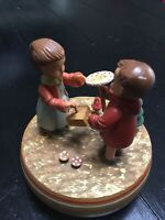 Vintage Thorens ANRI Spinning Music Box Boy Girl Plays Love Story Switzerland
