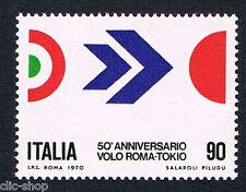 ITALIA 1 FRANCOBOLLO VOLO ROMA-TOKIO 90 LIRE 1970 nuovo**