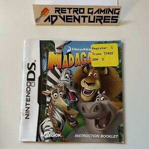 MANUAL ONLY - Madagascar - Nintendo DS - PAL AUS - MANUAL ONLY
