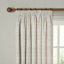 New John Lewis Saigon Lined Pencil Pleat Curtains, Putty, W 228 D137cm,rp £120.