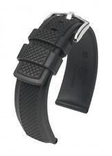 HIRSCH Uhrenarmband Accent Premium Kautschuk Schwarz 22 mm Stegbreite